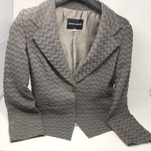 Giorgio Armani blazer casual knit single button 38